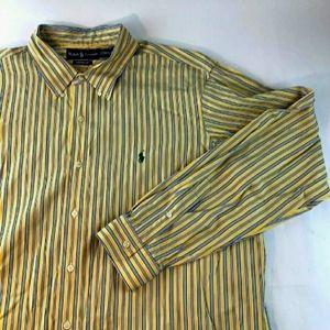 Ralph Lauren Custom Fit Shirt L/S Yellow Mens 2XL